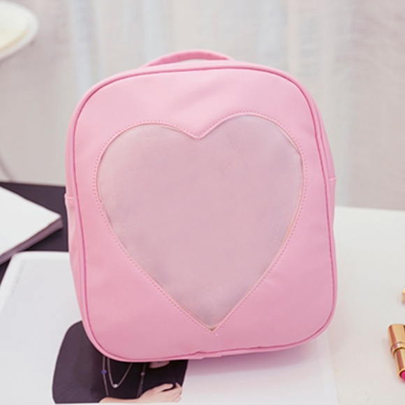 Handbags - NEW transparent heart ita bag backpack